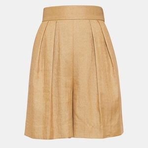 Theory Pleated Linen Short